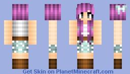 princess bubblegum inspired skin Minecraft Skin