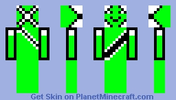 green warrior Minecraft Skin