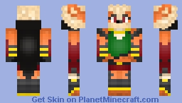 Harley the Female Arcanine Warrior Minecraft Skin