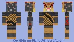 Unmasked Yautja (predator) Minecraft Skin