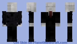 1.8 Slenderman (With 3D Tentacles ,Tie & Shoes) Minecraft Skin