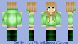 ℛαṽ℮ᾔ ℮ƴℯṧ Green-ish Green Girl Thats Green Minecraft Skin