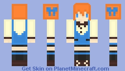 School Girl Inspired ~ Maya ー( ̄~ ̄)ξ Minecraft Skin
