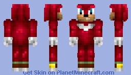 Knuckles The Echidna [Skin battle with sewa101 & Cezildur] Minecraft Skin