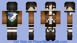 Attack on Titan - Levi Ackerman Minecraft Skin