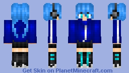 "Takane ""Ene"" Enomoto [Mekaku City Actors] Minecraft Skin"