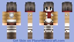 ❤∂αηιcα❤ - Mikasa | Attack On Titan ~Pop Reel~ Minecraft Skin