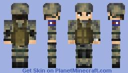 Korea People's Army 조선인민군 2 Minecraft Skin