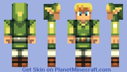 Link (As seen in Wind Waker!) Minecraft Skin