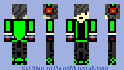 GreenySuit Minecraft Skin