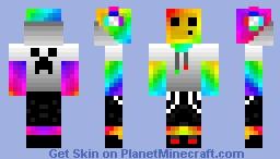 Awesome Rainbow Slime Minecraft Skin
