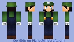 Death Stare Luigi Minecraft Skin