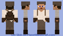 Smooth Chocolate Default Skin - Functional Clothes w/ Hat Layer! Minecraft Skin