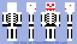 Evil Skeleton Minecraft Skin