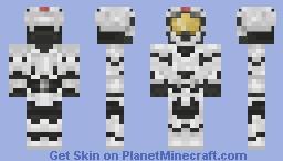 White Operator Spartan Minecraft Skin