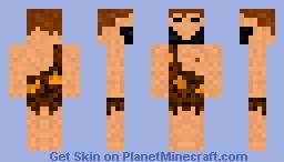 Cave Man Minecraft Skin