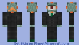 Guardian in a suit (1.8 new water mob) {1.7} Minecraft Skin
