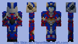 Optimus Prime Minecraft Skin