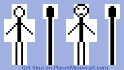 Stick Figure (My First Skin) Minecraft Skin