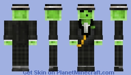 HD Black Suit Slime 1.8 - (request) Minecraft Skin