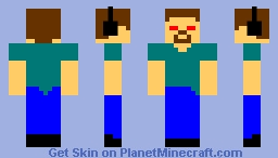 Angry Herobrine Minecraft Skin