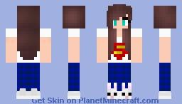 PJ Super Man Girl Minecraft Skin