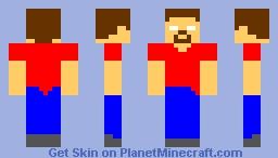 Herobrine with red shirt? Minecraft Skin