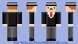 Cool Man In Suit Minecraft Skin