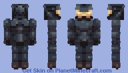 Futuristic Knight Soldier Man (Brand-new!) Minecraft Skin