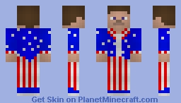 Uncle Steve/Patriotic Steve - Happy Forth of July! Minecraft Skin
