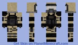 Gas Mask Soldier Minecraft Skin