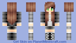 Black Jacket Girl Minecraft Skin