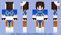 Chun-Li ~For PandaMakesSkins contest~ Minecraft Skin