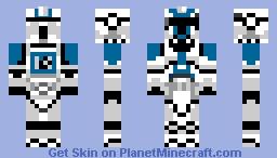 Clone trooper (star wars battlefront II series ) Minecraft Skin