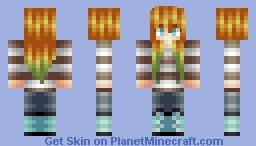 Weird green ombre girl... o3o Minecraft Skin