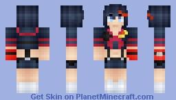 *Яเภภเє~* Ryuko Matoi~ :3 (Kill la Kill) [I'm back! :3] Minecraft Skin