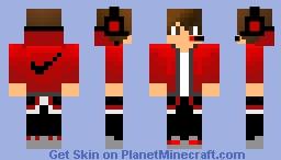 red youtuber v4 Minecraft Skin