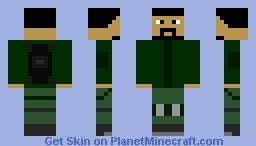 Ex-Military Survivalist Minecraft Skin