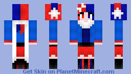 Red, White, & Blue Minecraft Skin