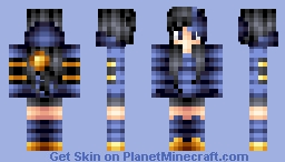 Luxray Girl (Watch how I did it!) Minecraft Skin