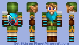 Hyrule Warriors Link Minecraft Skin