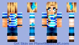 I Love Blue! Minecraft Skin
