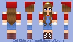 Mario Fangirl Minecraft Skin