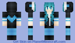 *Яเภภเє~*  Hatsune Miku~ :3 (A Female Ninja, But I Want to Love!)(Rin in desc) Minecraft Skin