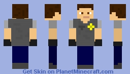 Random guy with an armored vest Minecraft Skin