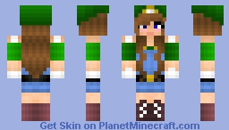 Luigi Fangirl Minecraft Skin