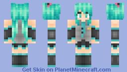 Miku Hatsune • Vocaloid Minecraft Skin