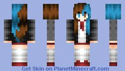 ♦Ηαmατθrα: Brown and blue! Minecraft Skin