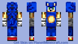 Advance/Early Modern Sonic (part of Skin Project) Minecraft Skin