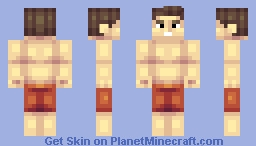 the awesome beach guy Minecraft Skin